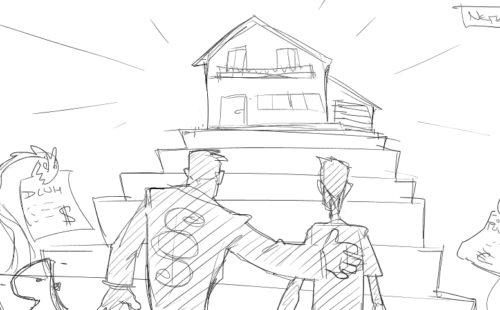Nemovitosti – první skica