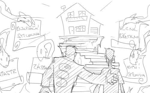 Nemovitosti – druhá skica